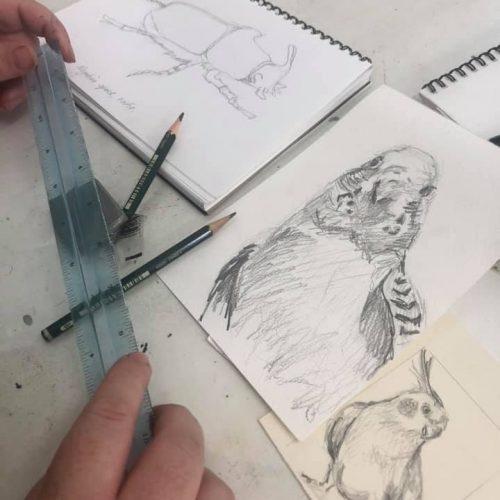 drawing mixed media
