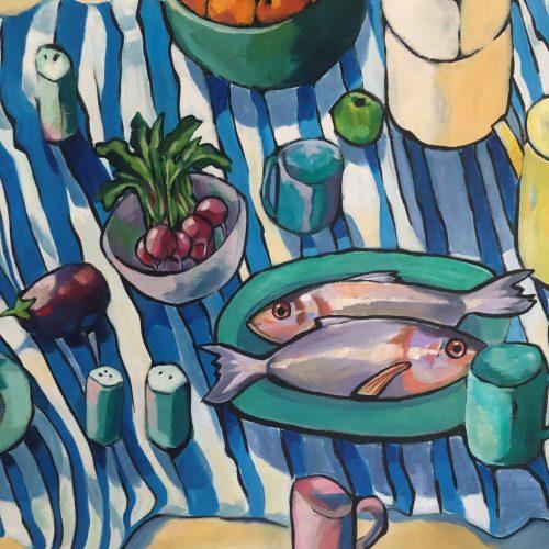 Kitchen Still Life in Acryllic